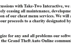 """Prominent GTA Online cheat website shuts down """"after discussions with Take-Two"""" 4"""