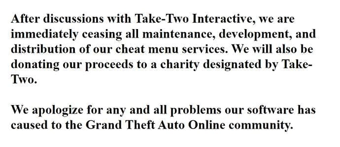 """Prominent GTA Online cheat website shuts down """"after discussions with Take-Two"""" 1"""