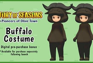 Pre-Order Story Of Seasons: Pioneers Of Olive Town And Get A Buffalo Costume 2
