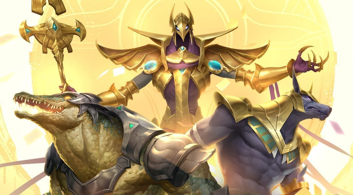 Legends of Runeterra's next expansion is Empires of the Ascended Three inhabitants of Shurima, Legends of Runeterra's pseudo-Egyptian region 1