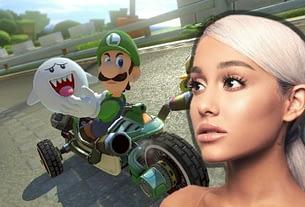 Random: Ariana Grande Sang About Playing Mario Party And Mario Kart 1