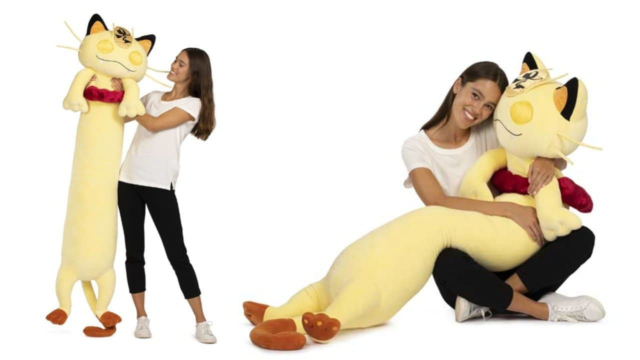 You Can Now Buy A Gigantamax Meowth Plush, And It's Over Five Feet Long 2