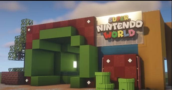 Most of us won't be able to visit Super Nintendo World, so someone's making it in Minecraft 1