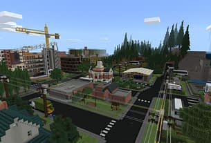 Minecraft Releases Free Sustainability City Map Inspired by Microsoft's Sustainability Report 1